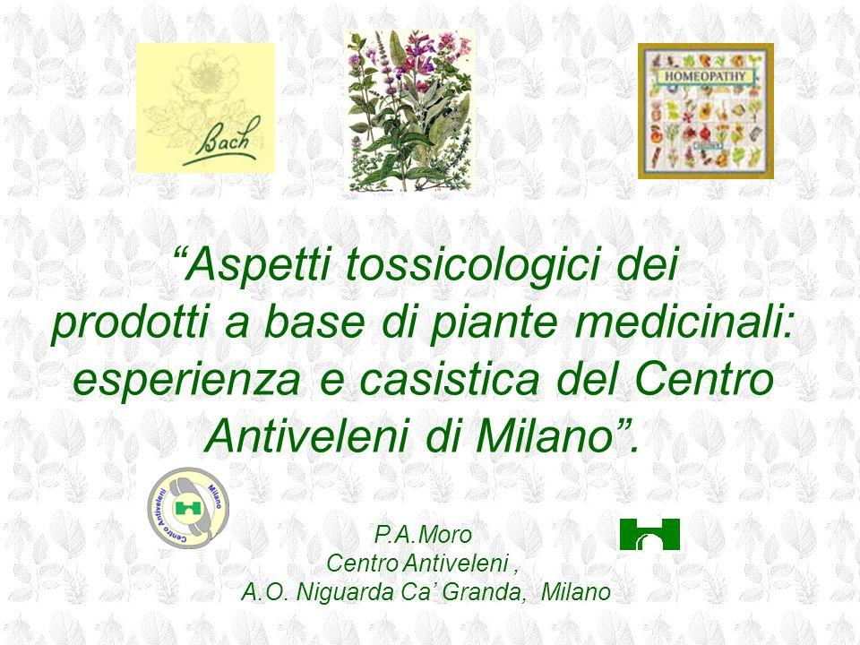 Aspetti tossicologici dei prodotti a base di piante medicinali: