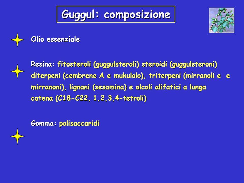 Guggul: composizioneOlio essenziale.