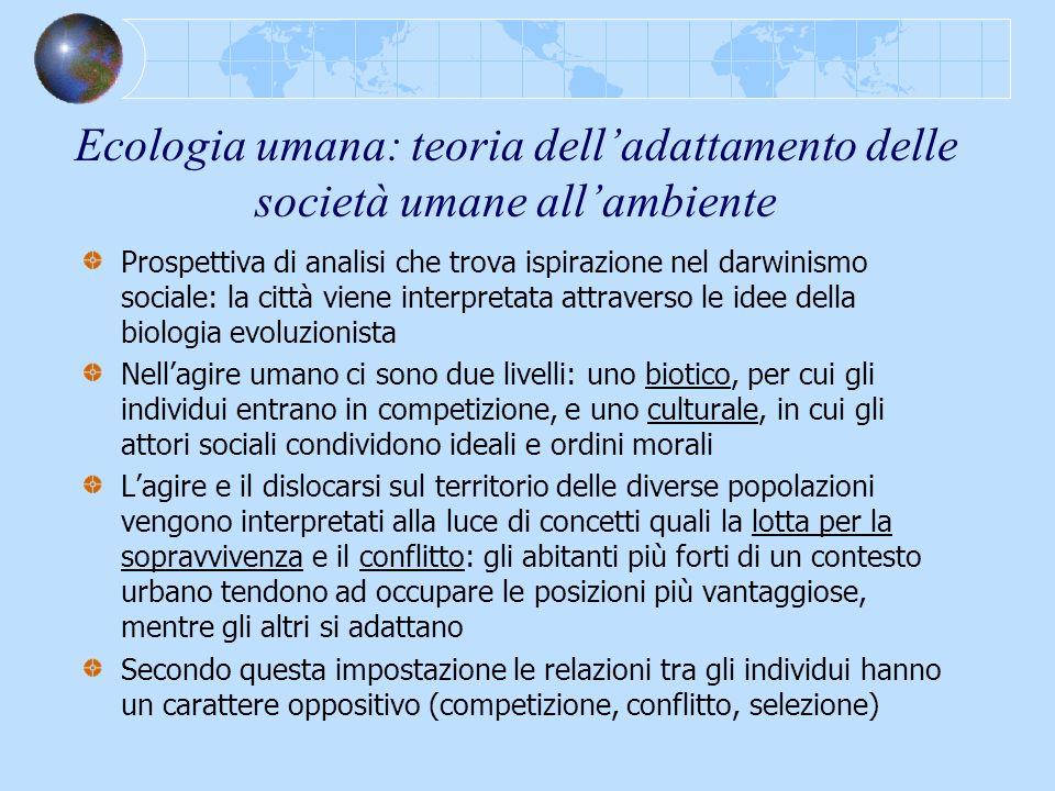 Ecologia umana: teoria dell'adattamento delle società umane all'ambiente
