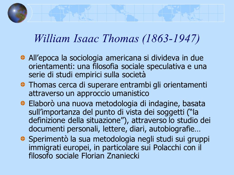 William Isaac Thomas (1863-1947)