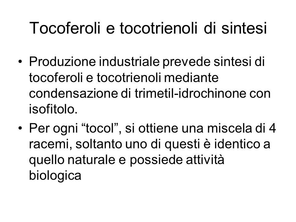 Tocoferoli e tocotrienoli di sintesi