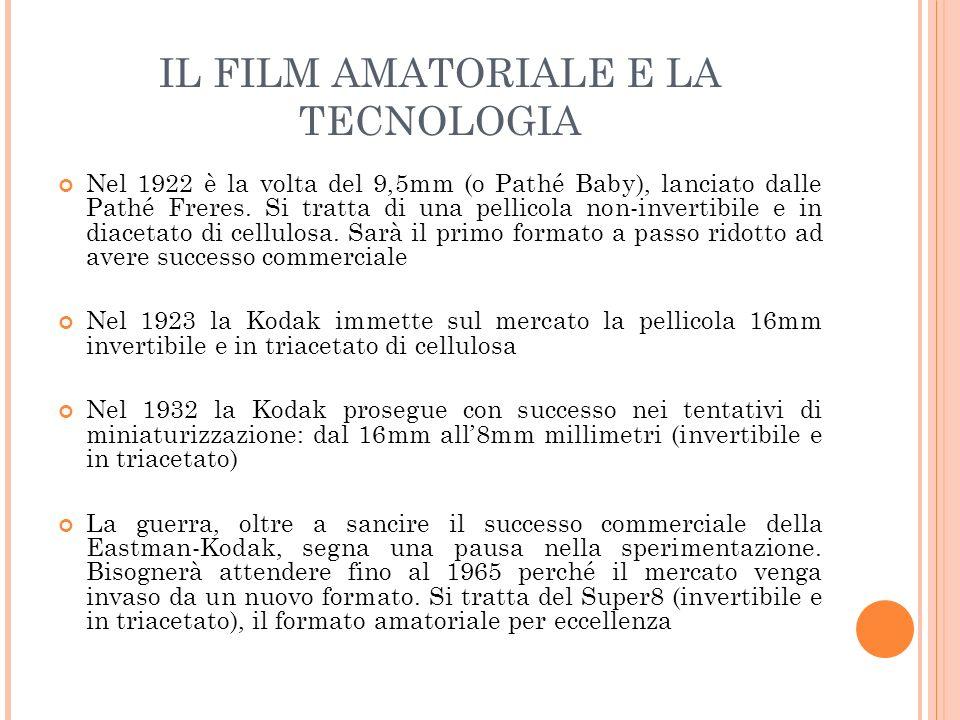 IL FILM AMATORIALE E LA TECNOLOGIA