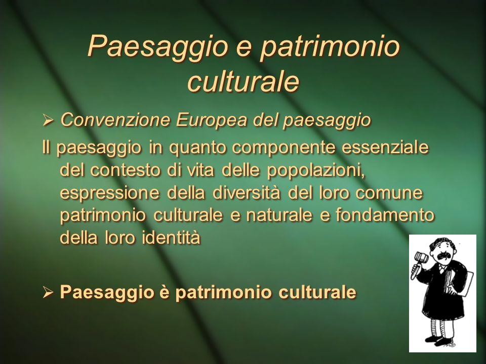 Paesaggio e patrimonio culturale