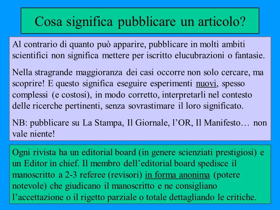 Cosa significa pubblicare un articolo