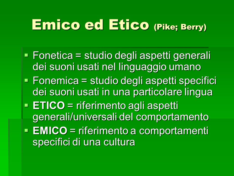 Emico ed Etico (Pike; Berry)