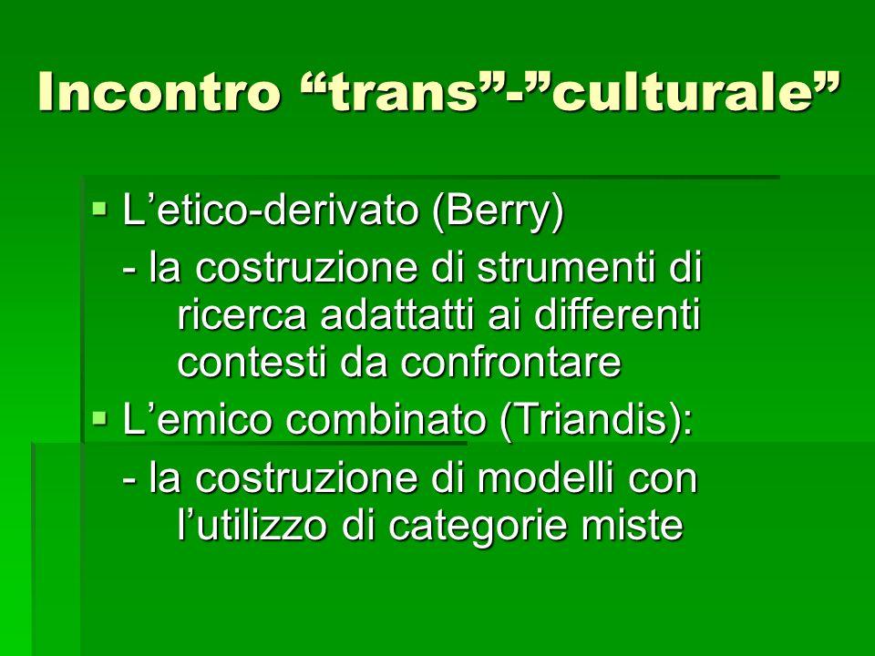 Incontro trans - culturale