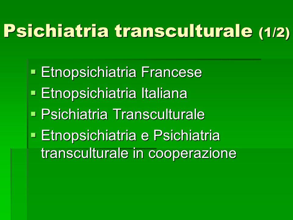 Psichiatria transculturale (1/2)