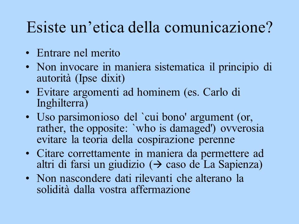 Esiste un'etica della comunicazione