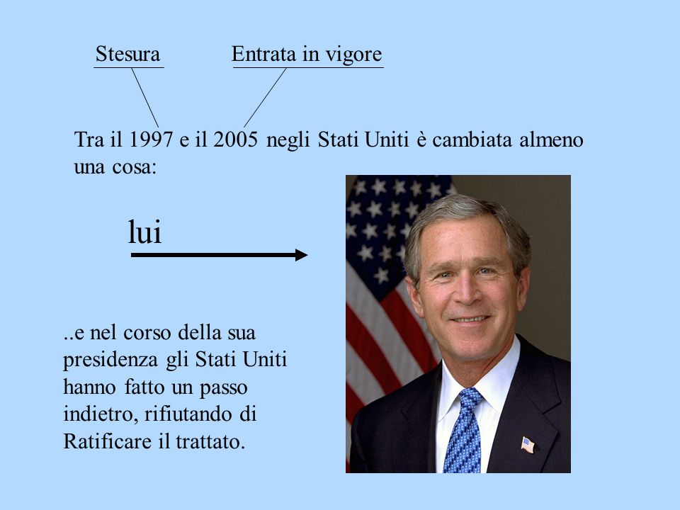 lui Stesura Entrata in vigore Tra il 1997 e il 2005