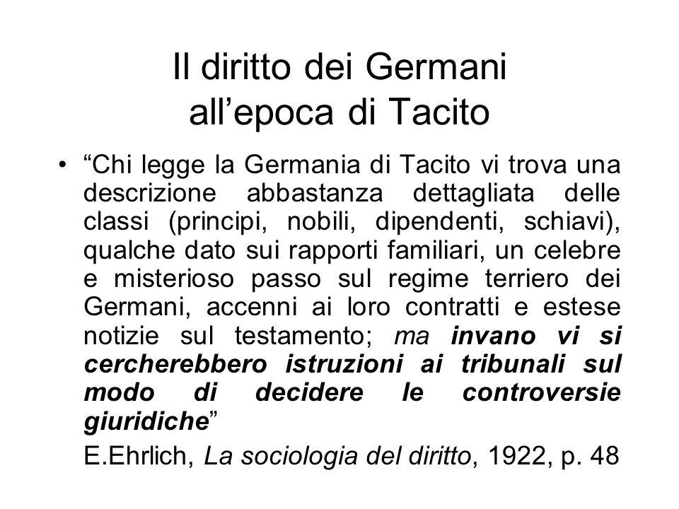 Il diritto dei Germani all'epoca di Tacito