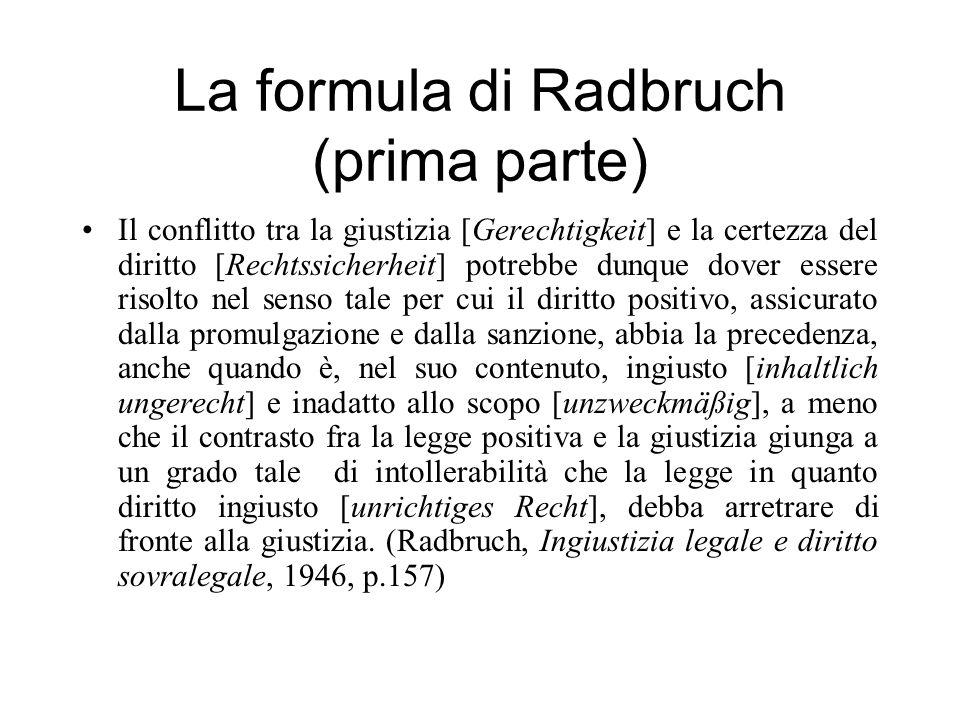 La formula di Radbruch (prima parte)