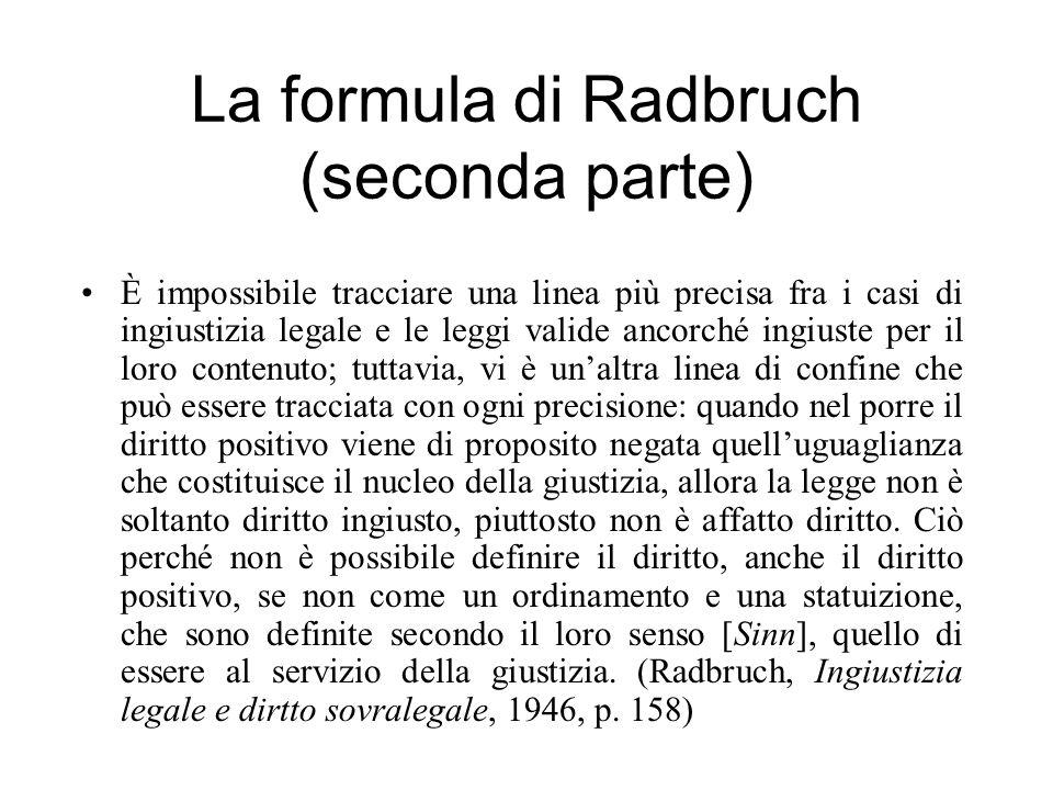 La formula di Radbruch (seconda parte)