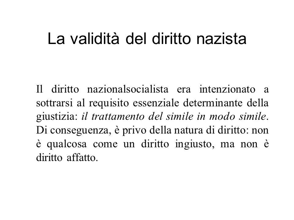 La validità del diritto nazista