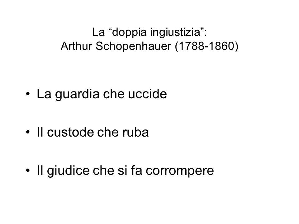 La doppia ingiustizia : Arthur Schopenhauer (1788-1860)