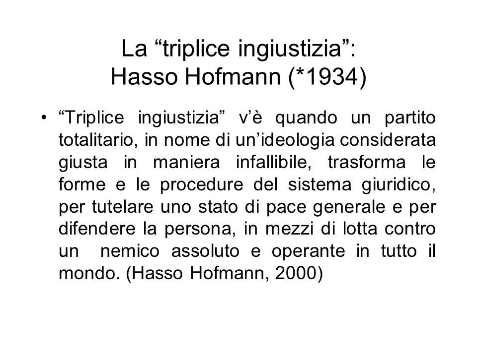 La triplice ingiustizia : Hasso Hofmann (*1934)