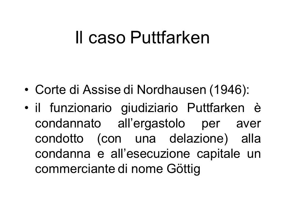 Il caso Puttfarken Corte di Assise di Nordhausen (1946):
