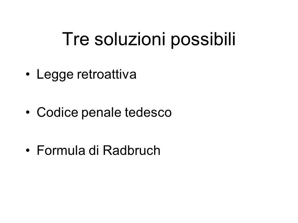 Tre soluzioni possibili