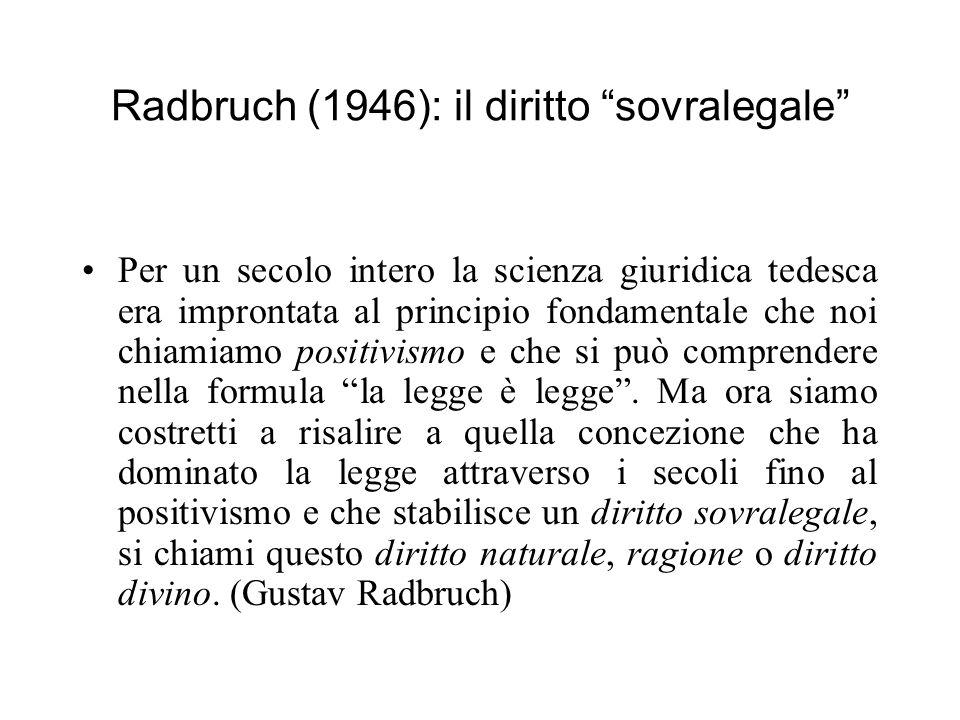 Radbruch (1946): il diritto sovralegale