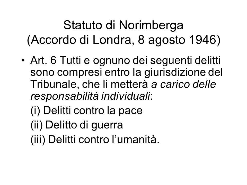 Statuto di Norimberga (Accordo di Londra, 8 agosto 1946)
