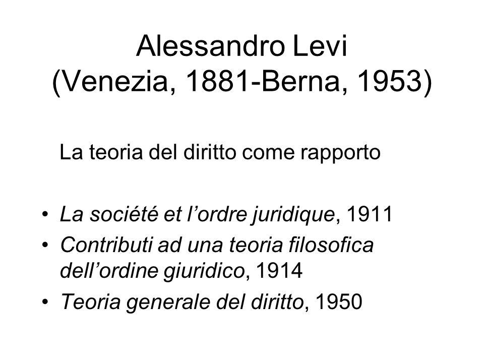 Alessandro Levi (Venezia, 1881-Berna, 1953)