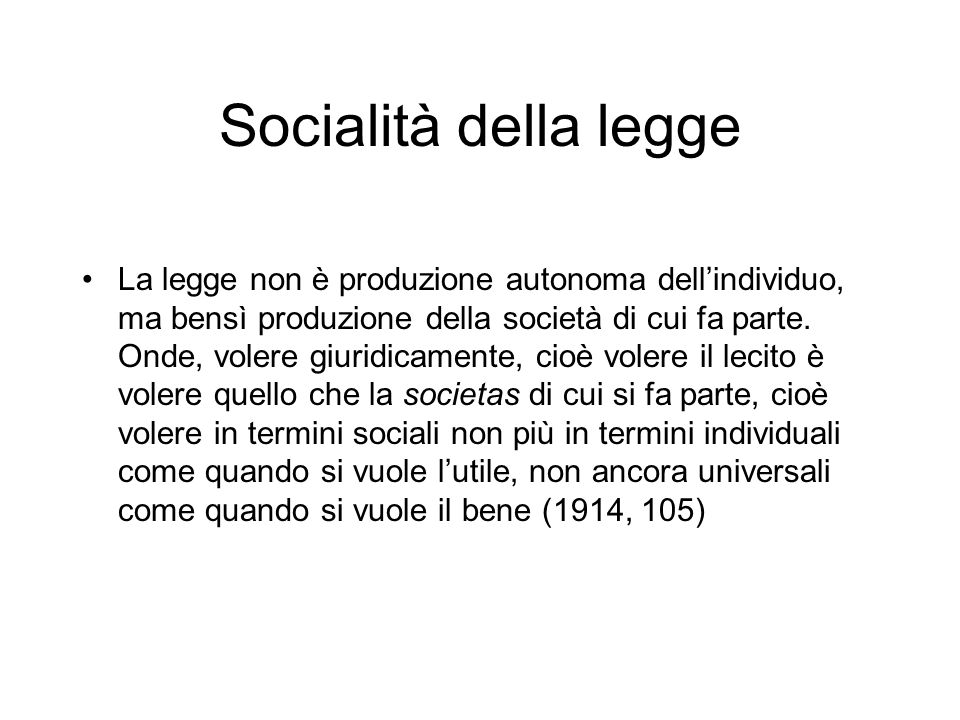 Socialità della legge