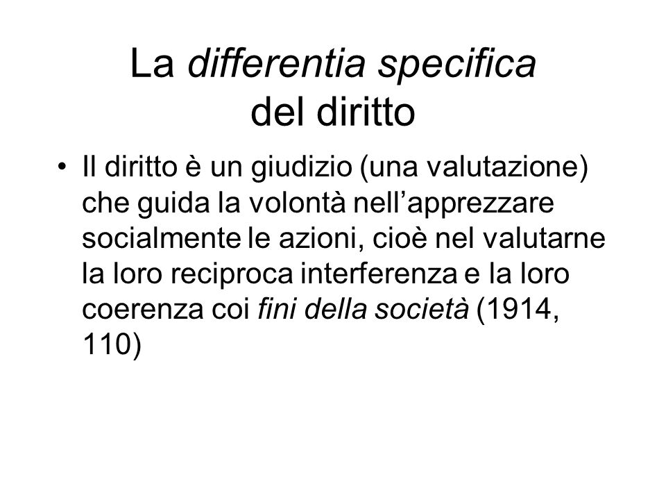 La differentia specifica del diritto