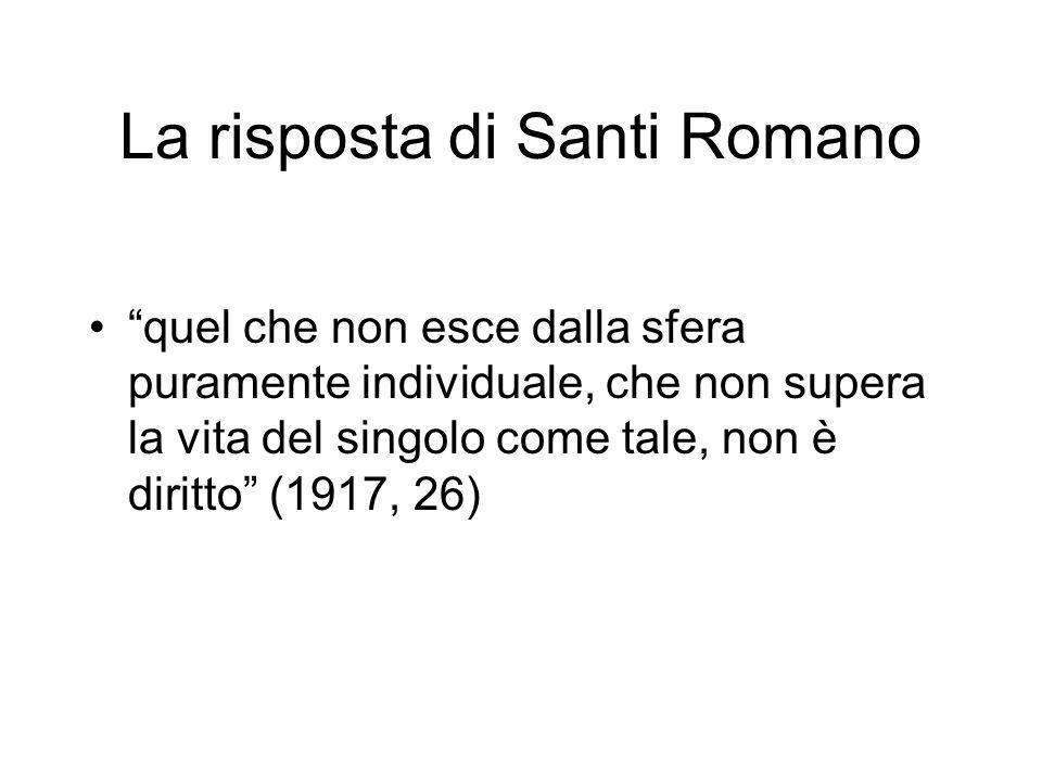 La risposta di Santi Romano