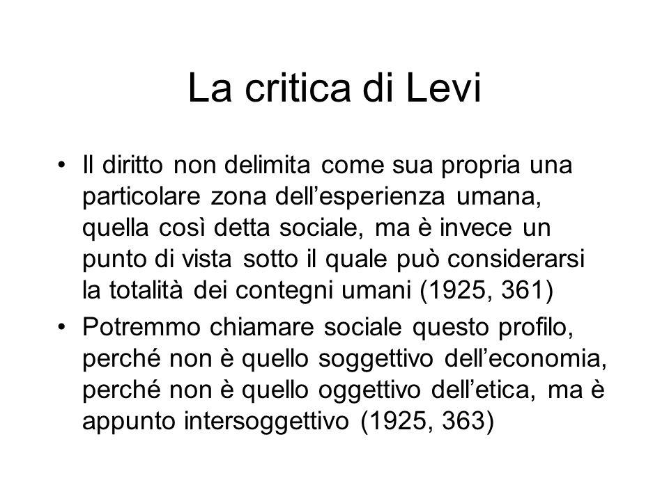 La critica di Levi