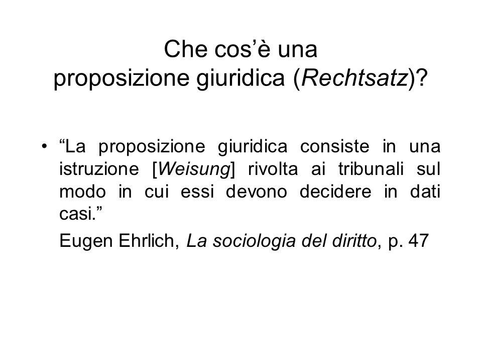 Che cos'è una proposizione giuridica (Rechtsatz)