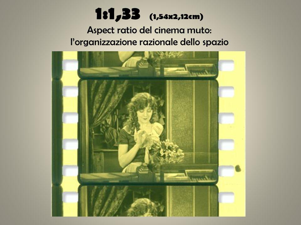 1:1,33 (1,54x2,12cm) Aspect ratio del cinema muto: l'organizzazione razionale dello spazio