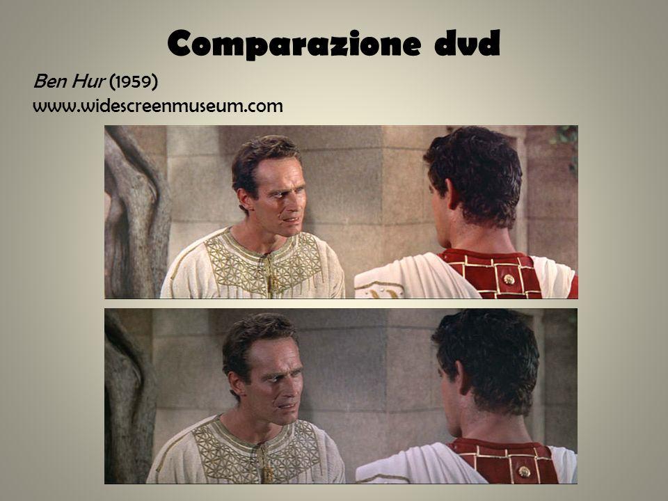 Comparazione dvd Ben Hur (1959) www.widescreenmuseum.com