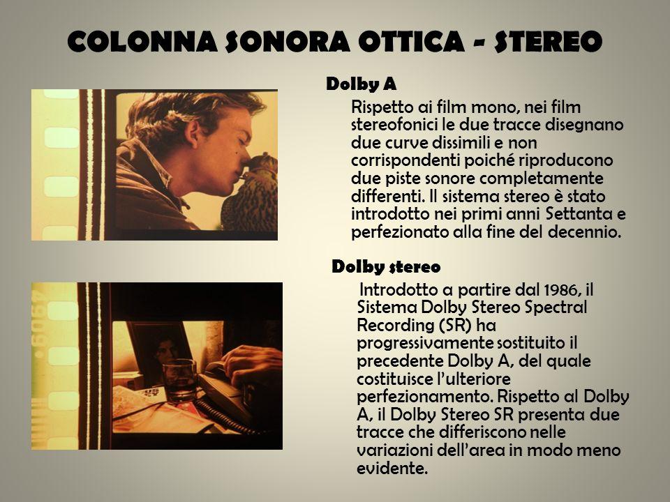 COLONNA SONORA OTTICA - STEREO