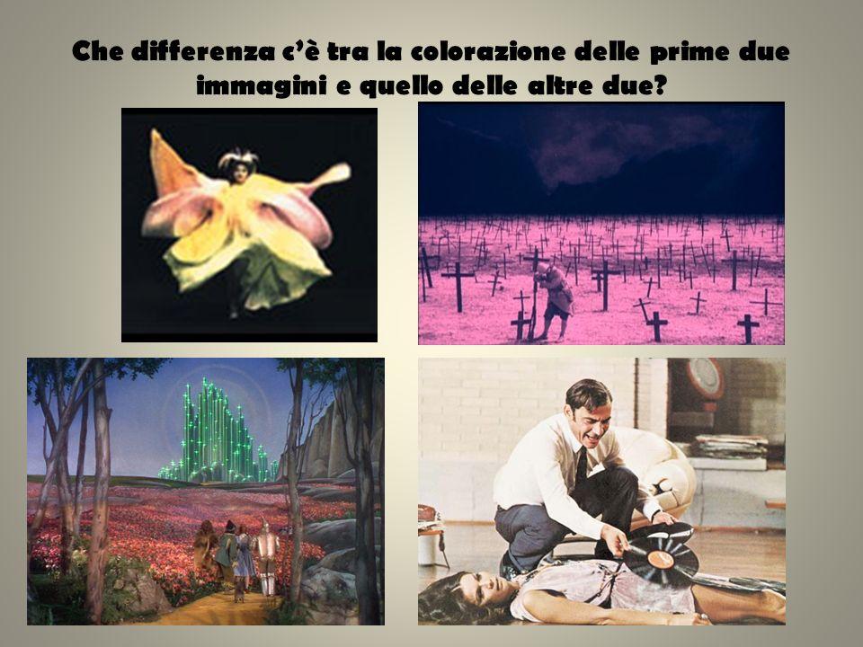Che differenza c'è tra la colorazione delle prime due immagini e quello delle altre due