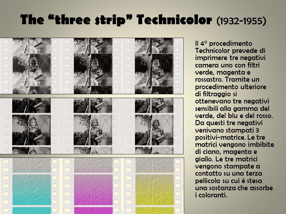 The three strip Technicolor (1932-1955)