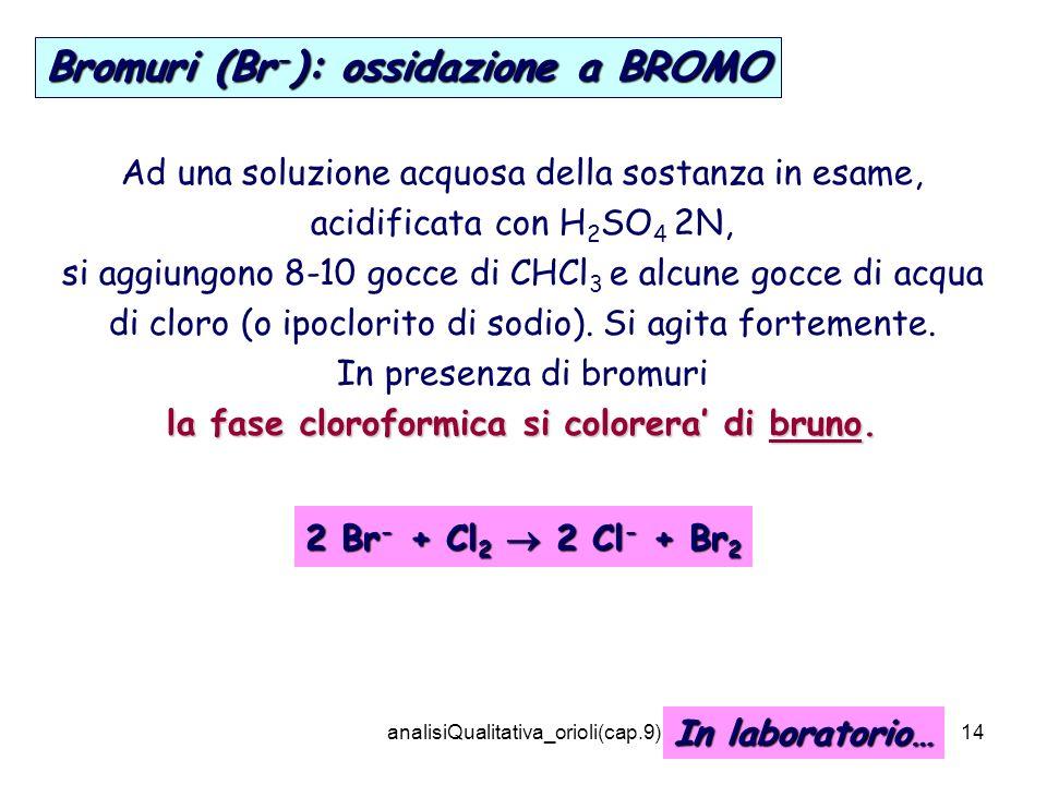 la fase cloroformica si colorera' di bruno.