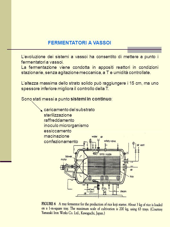 FERMENTATORI A VASSOI L'evoluzione dei sistemi a vassoi ha consentito di mettere a punto i fermentatori a vassoi.