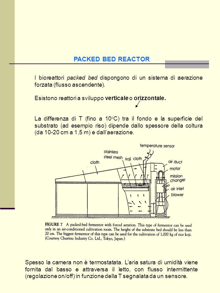 PACKED BED REACTORI bioreattori packed bed dispongono di un sistema di aerazione forzata (flusso ascendente).