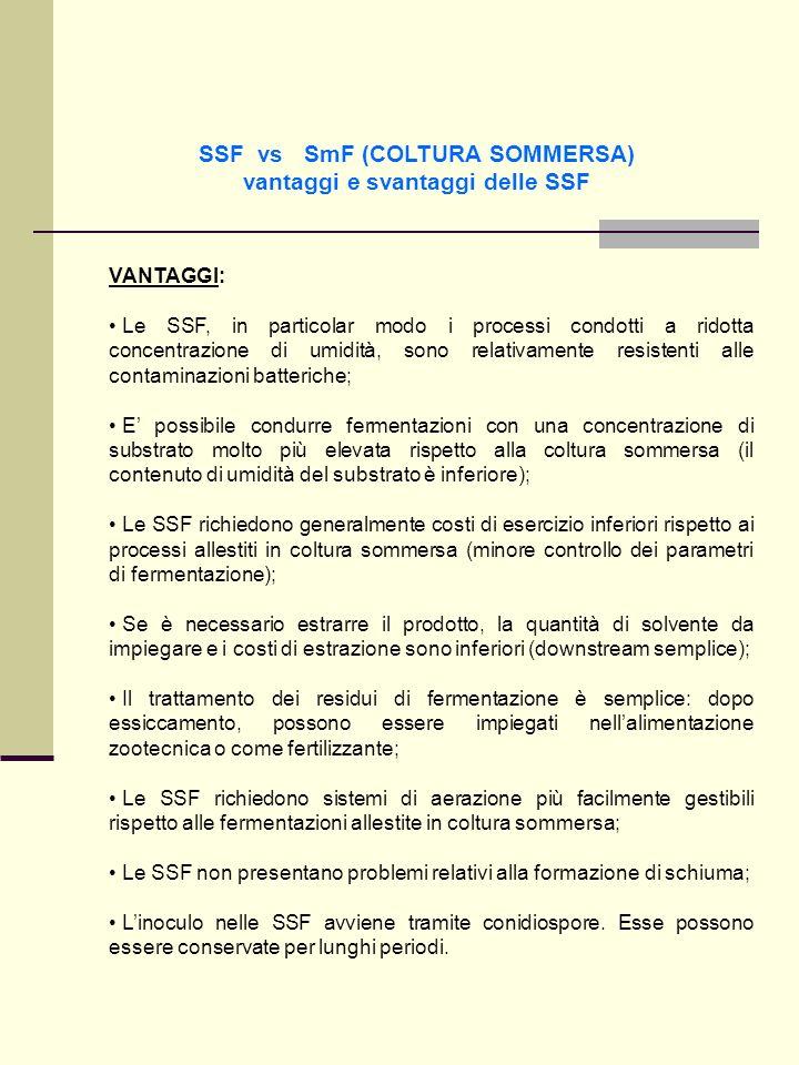SSF vs SmF (COLTURA SOMMERSA) vantaggi e svantaggi delle SSF