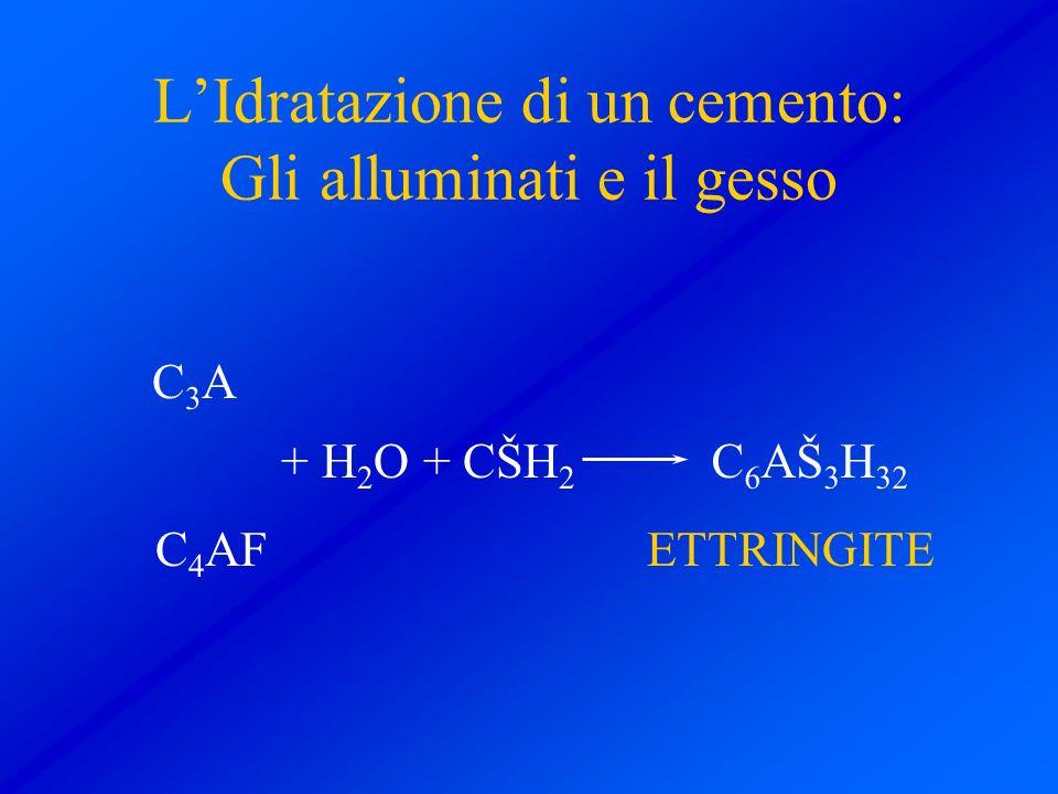 L'Idratazione di un cemento: Gli alluminati e il gesso