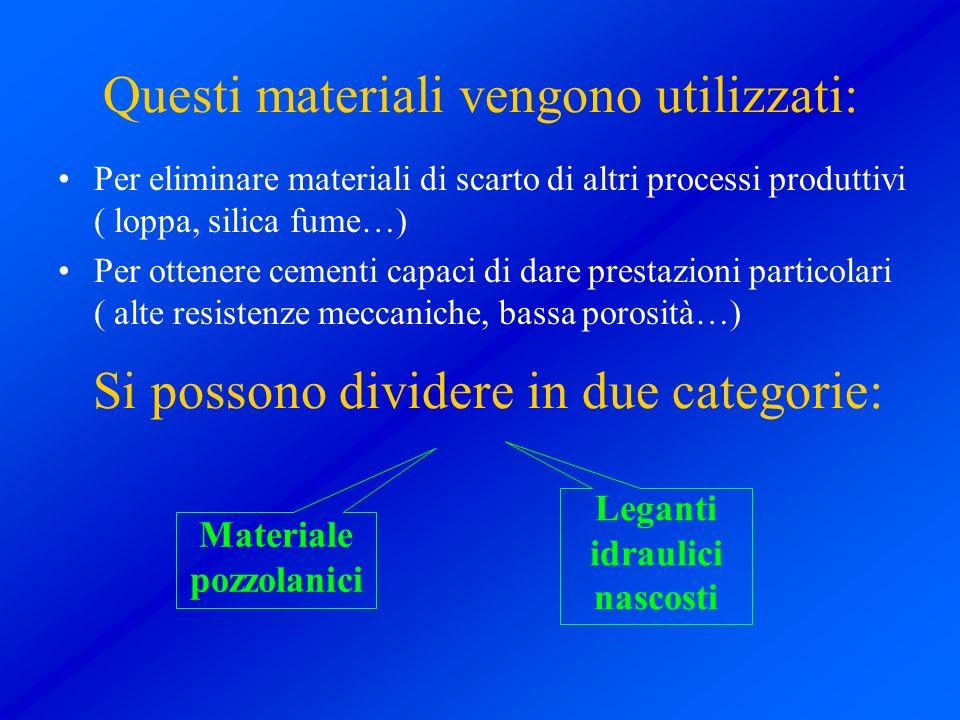Questi materiali vengono utilizzati: