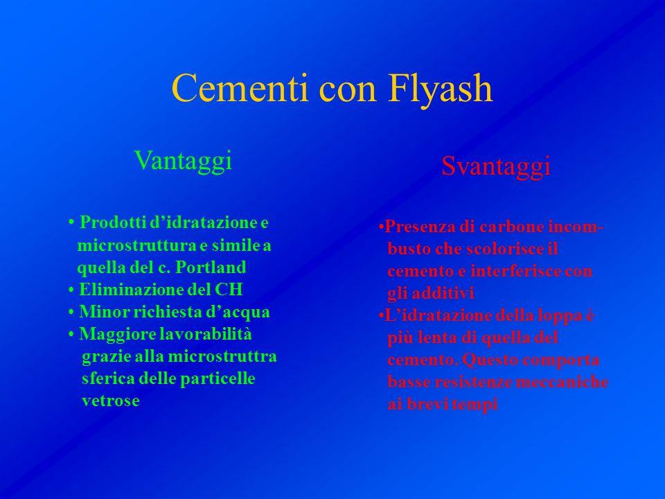 Cementi con Flyash Vantaggi Svantaggi Prodotti d'idratazione e