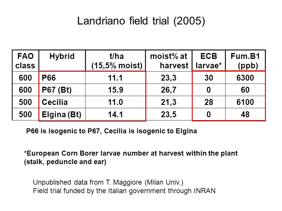 Landriano field trial (2005)