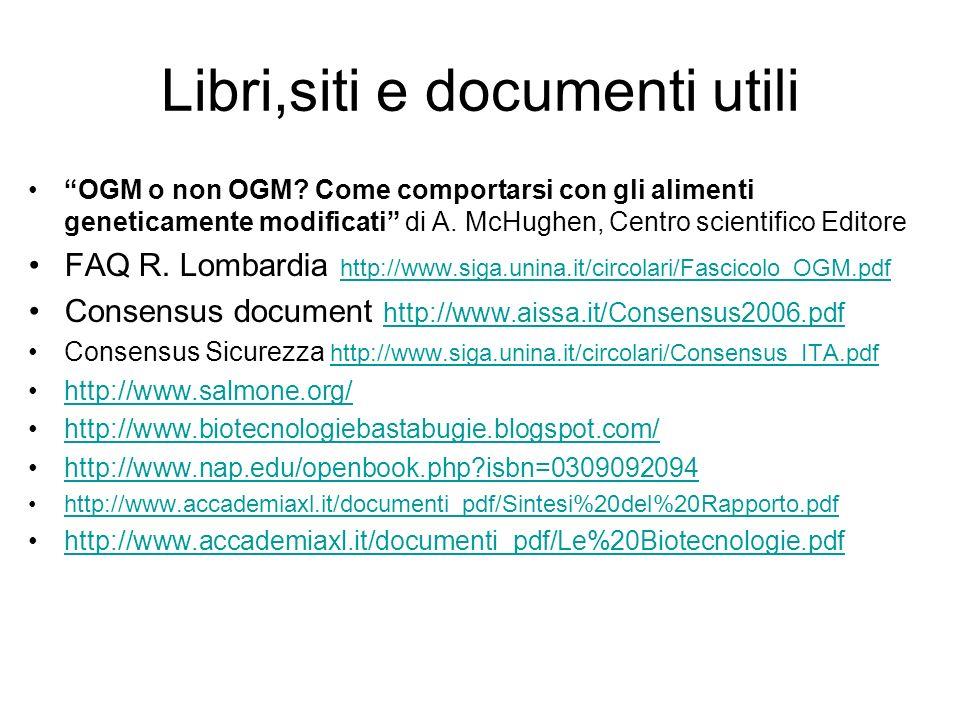 Libri,siti e documenti utili