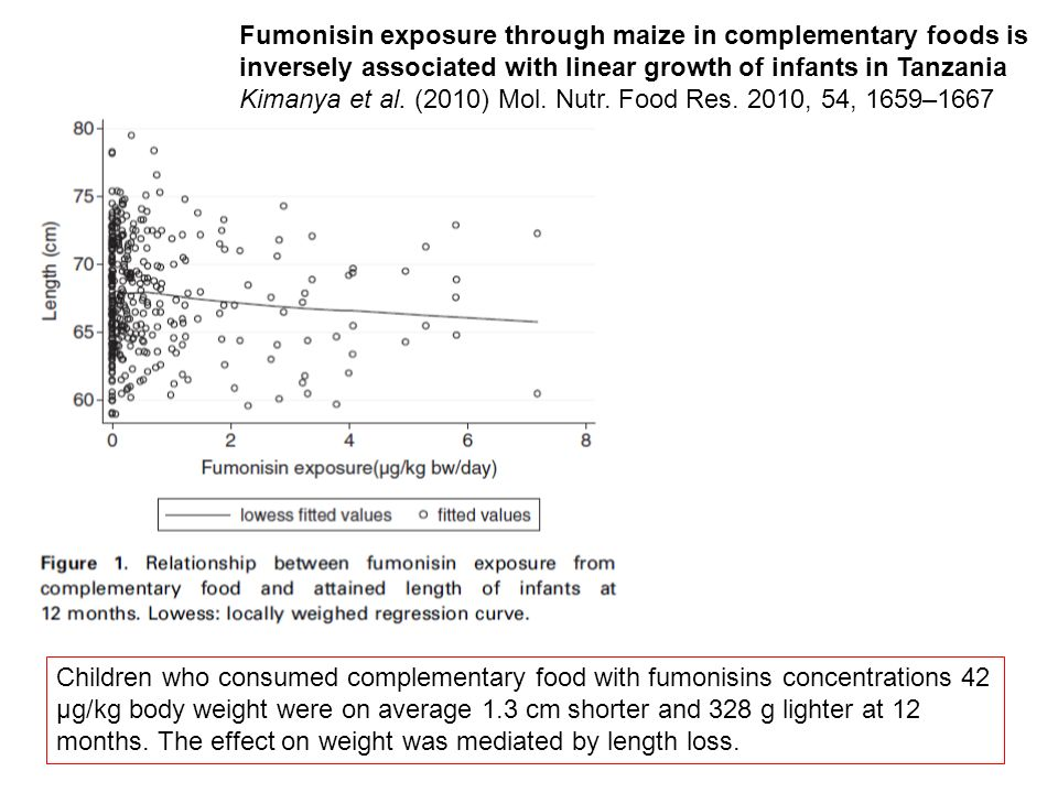 Fumonisin exposure through maize in complementary foods is inversely associated with linear growth of infants in Tanzania