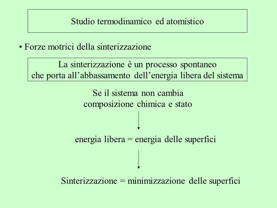 Studio termodinamico ed atomistico