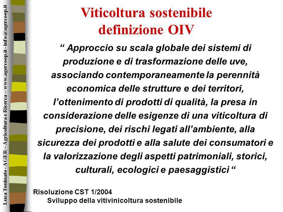 Viticoltura sostenibile definizione OIV