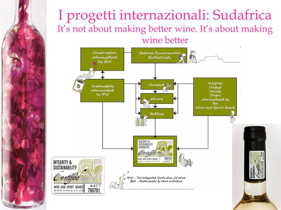 I progetti internazionali: Sudafrica It's not about making better wine