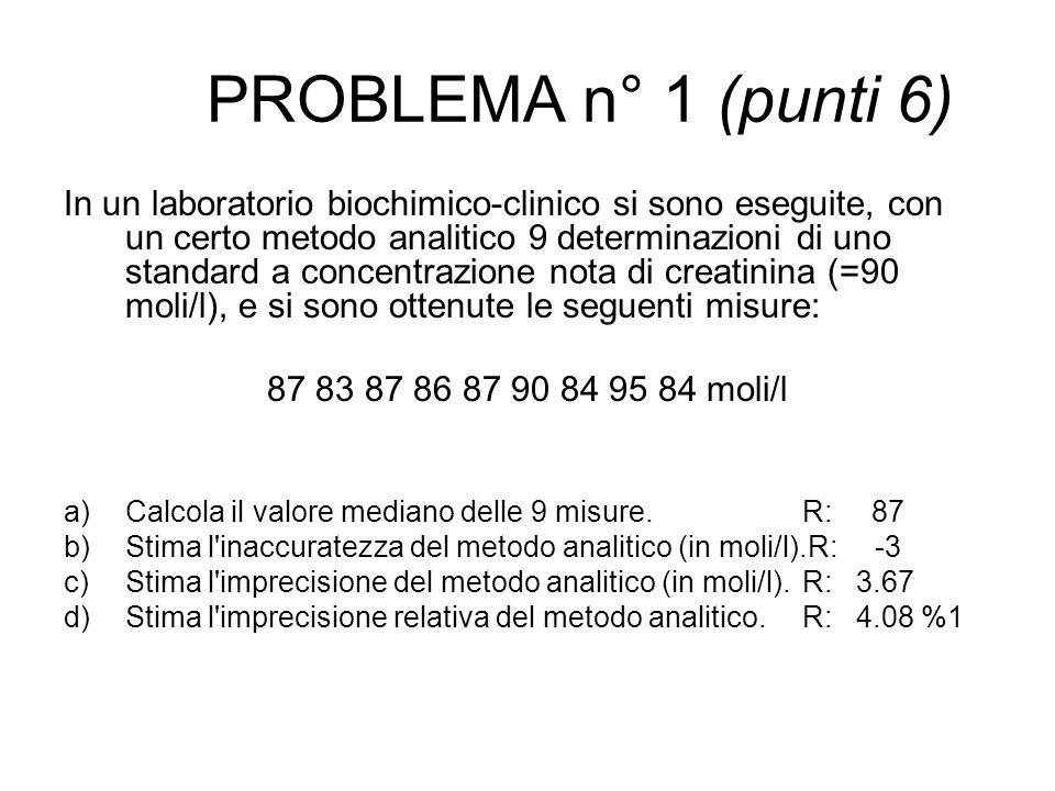 PROBLEMA n° 1 (punti 6)