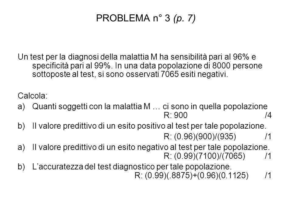 PROBLEMA n° 3 (p. 7)