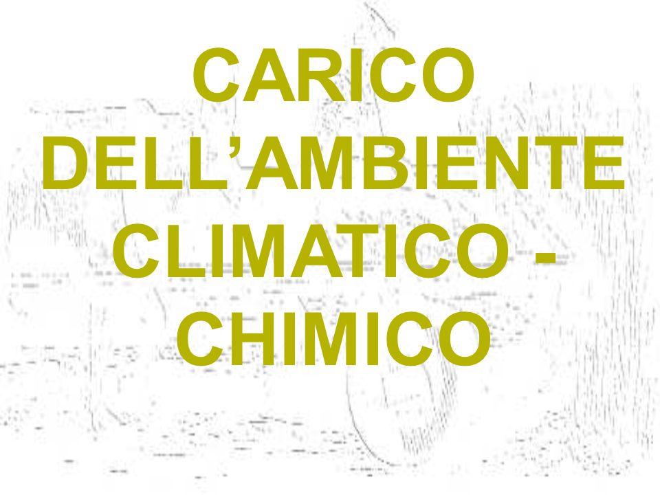 CARICO DELL'AMBIENTE CLIMATICO -CHIMICO